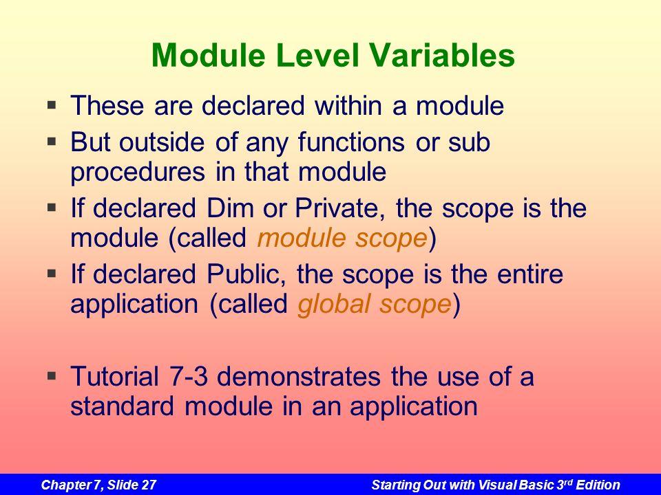 Module Level Variables