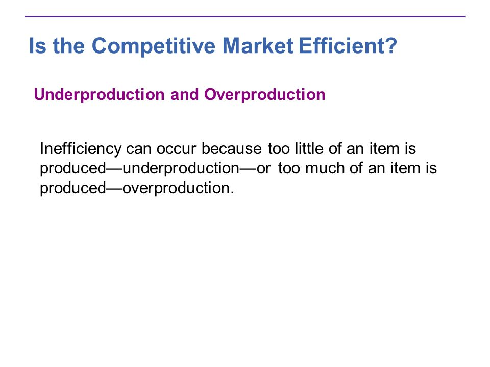 Is the Competitive Market Efficient