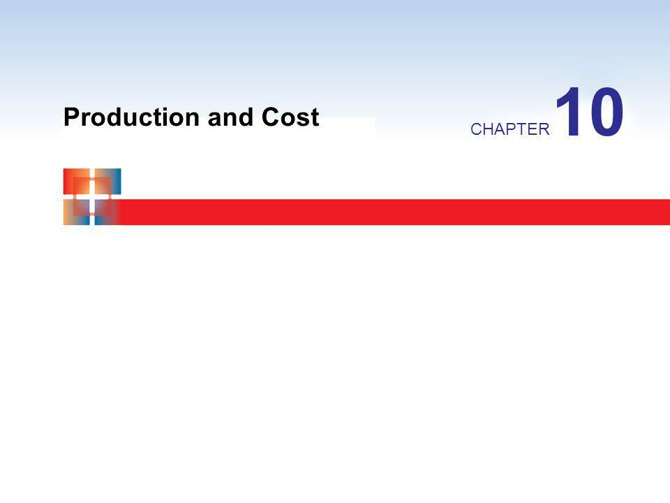 10 Production and Cost CHAPTER