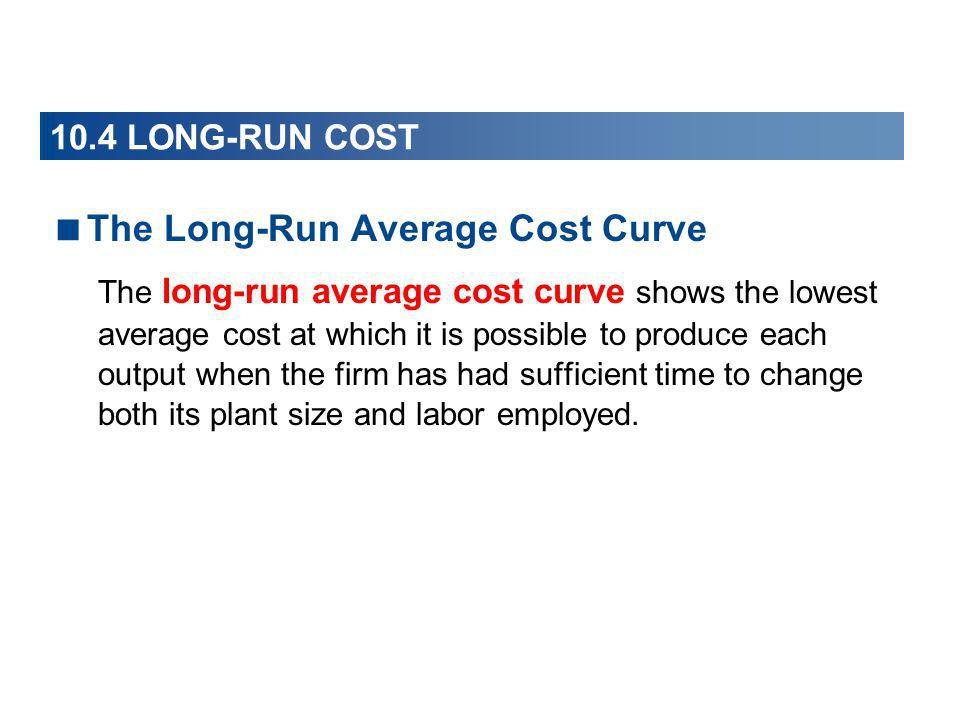 The Long-Run Average Cost Curve