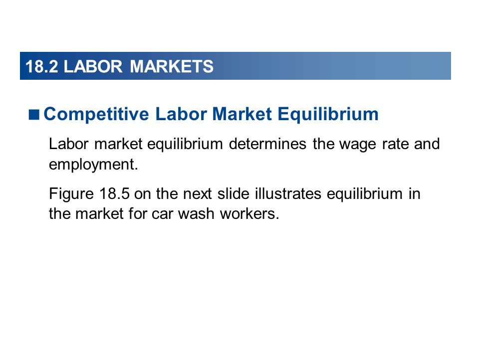 Competitive Labor Market Equilibrium