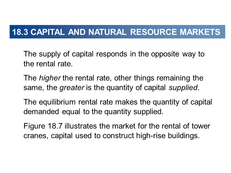 18.3 CAPITAL AND NATURAL RESOURCES