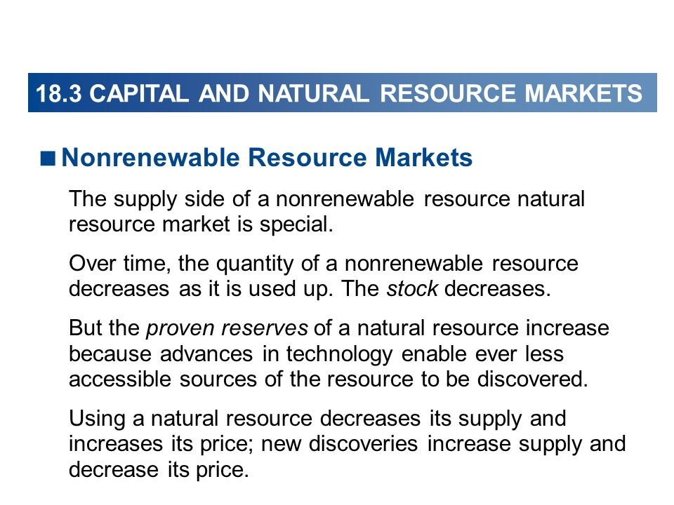 Nonrenewable Resource Markets