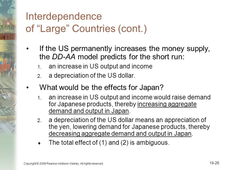 Interdependence of Large Countries (cont.)