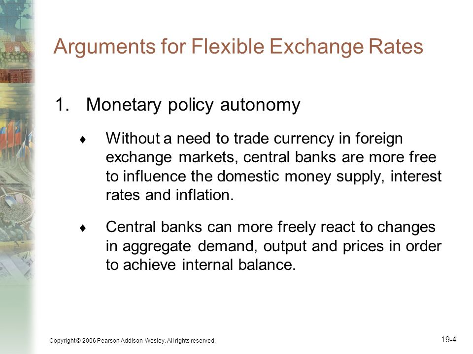 Arguments for Flexible Exchange Rates