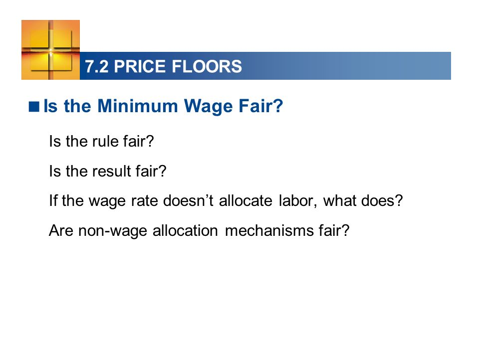 Is the Minimum Wage Fair