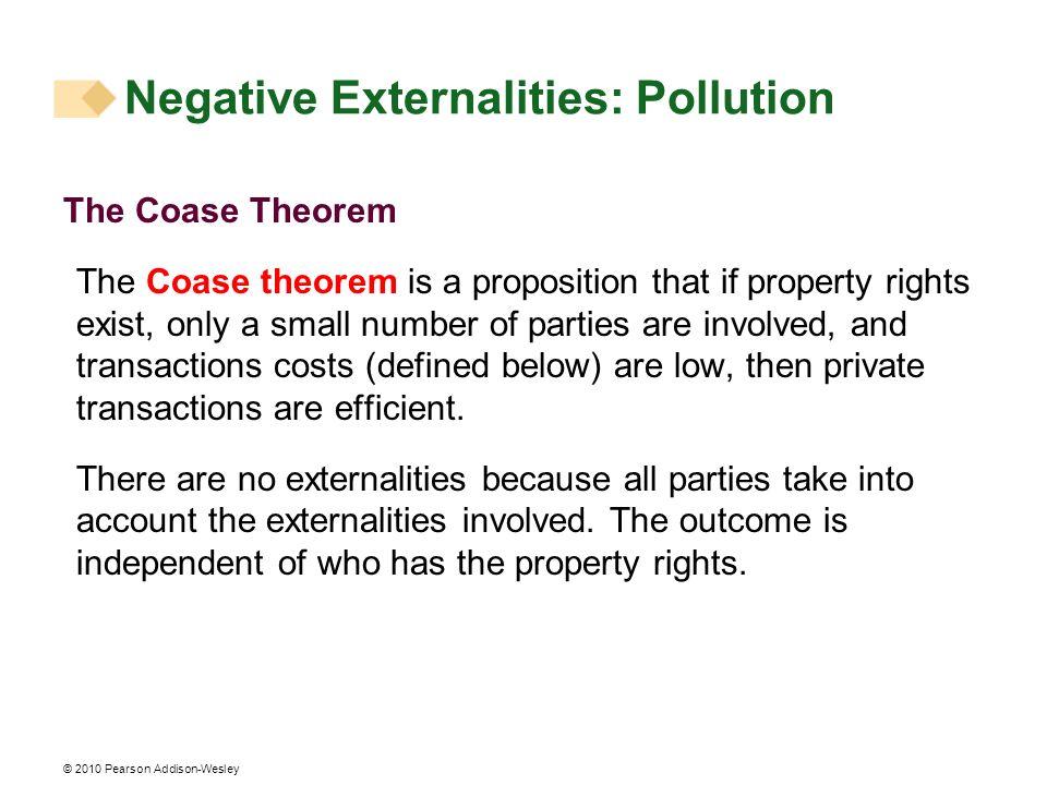 Negative Externalities: Pollution