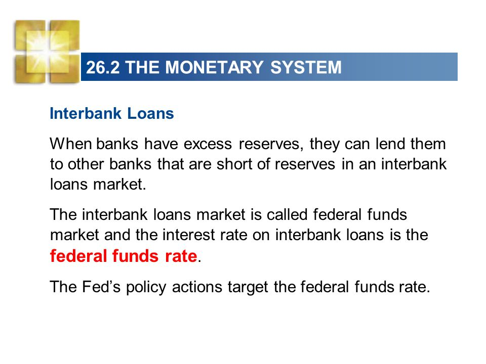 26.2 THE MONETARY SYSTEM Interbank Loans