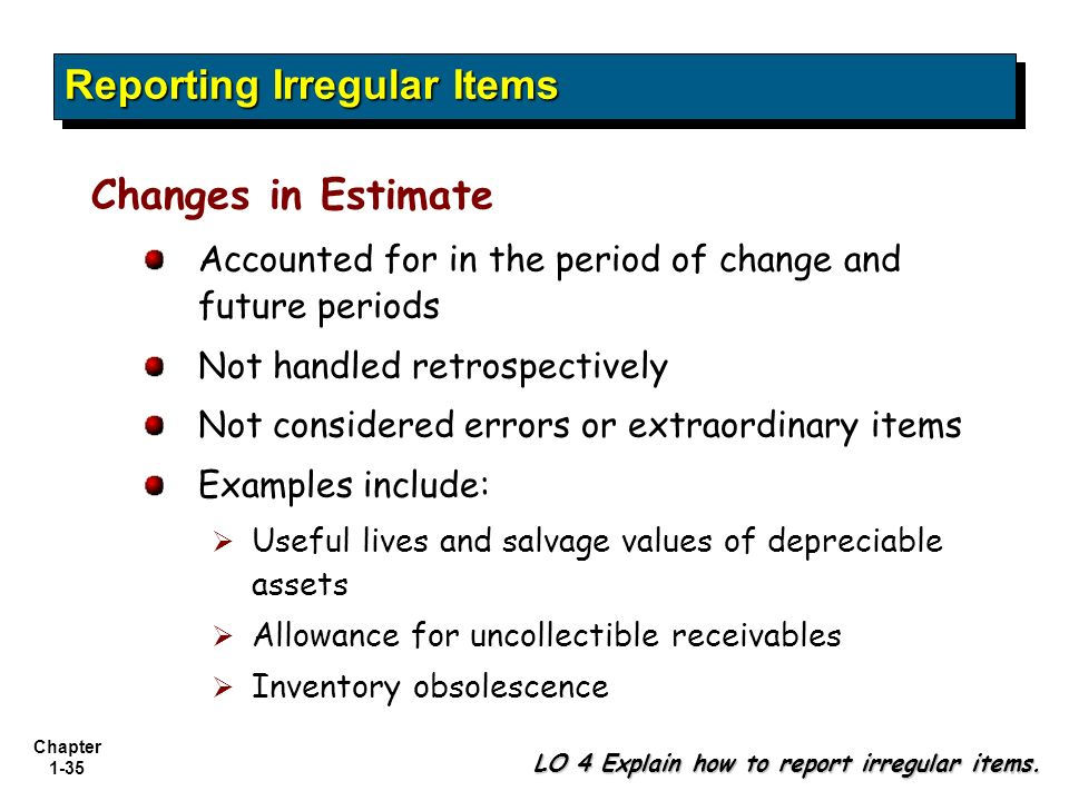 how to report change in accounting principle