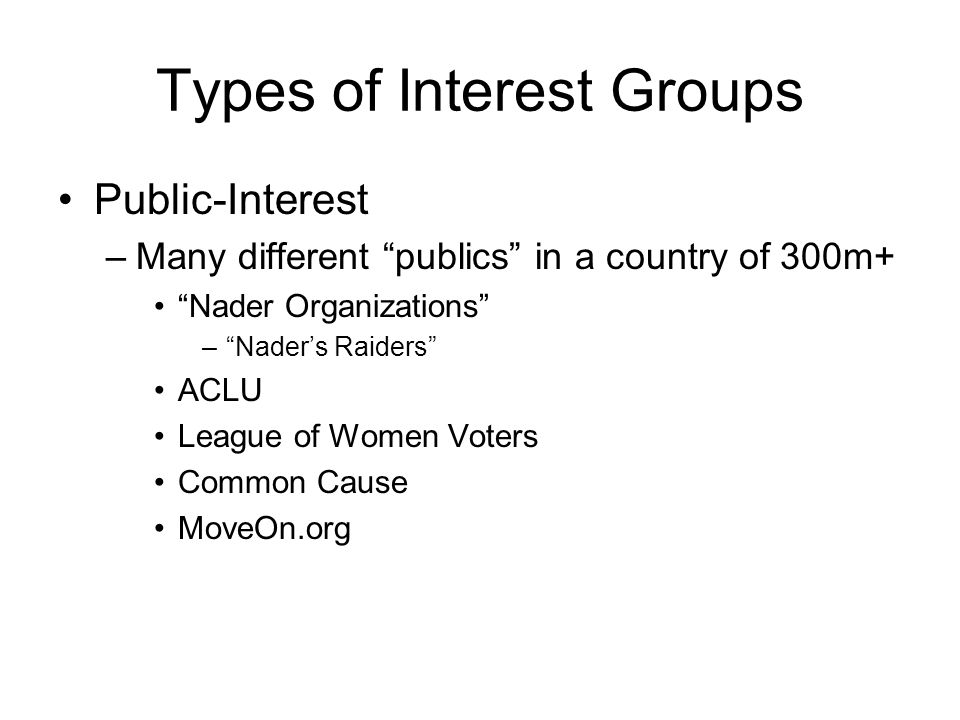 Interest Groups The Iron Triangle Interest Groups