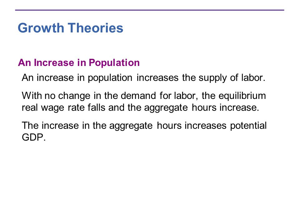 Growth Theories An Increase in Population