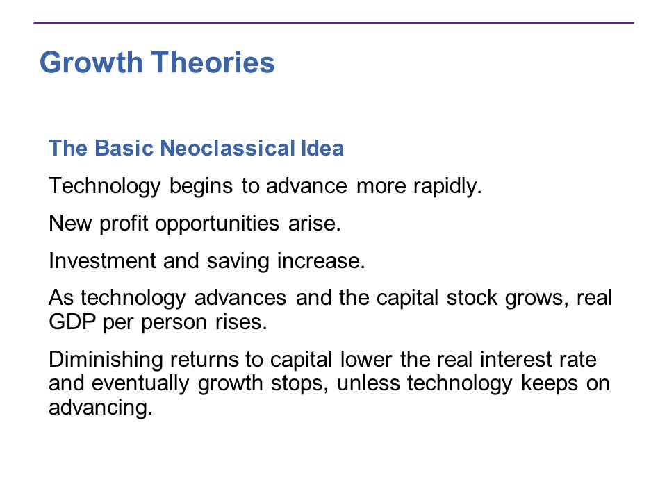 Growth Theories The Basic Neoclassical Idea