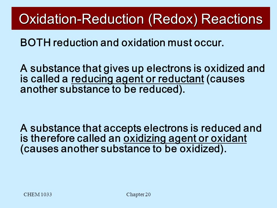 oxidation-reduction or metathesis reactions Skills to develop define some common features such as acid-base reaction ( neutralization), combination, combustion, decomposition, displacement, precipitation (exchange or metathesis), and redox reactions describe features of some common reactions classify chemical reactions according to their features.