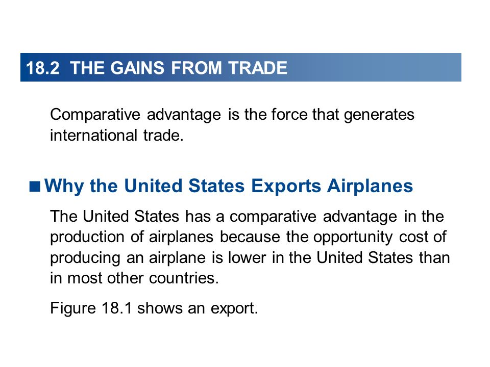 Why the United States Exports Airplanes