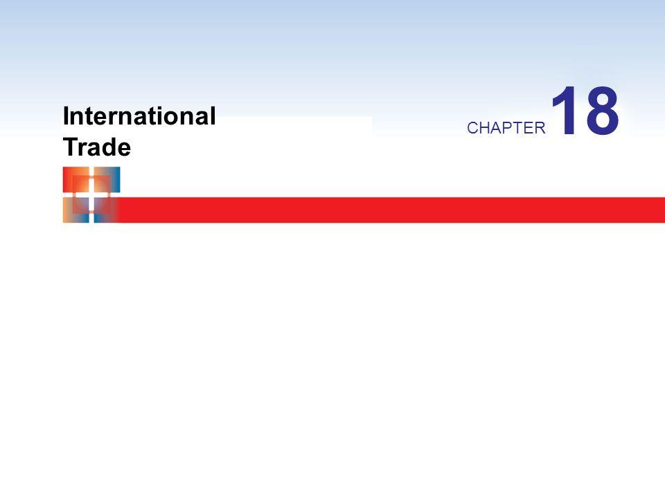 18 International Trade CHAPTER