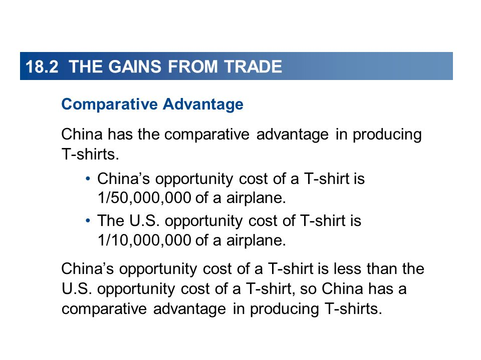 18.2 THE GAINS FROM TRADE Comparative Advantage