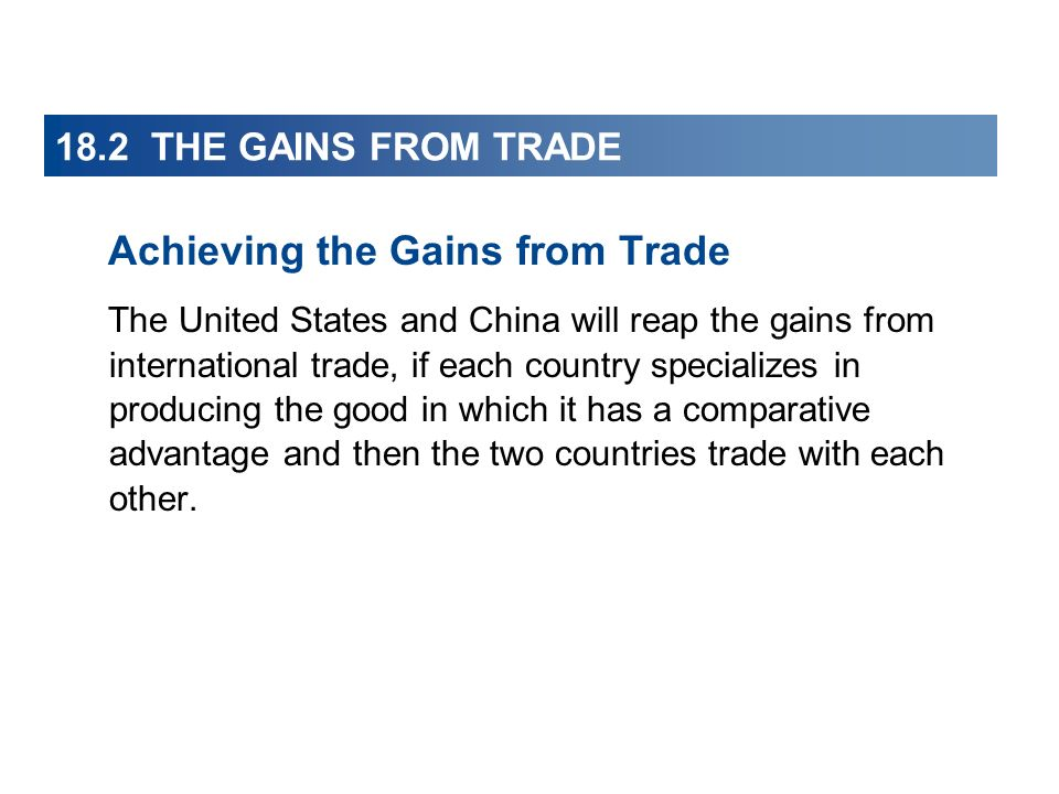 Achieving the Gains from Trade