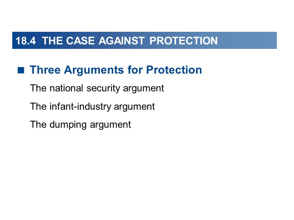 18.4 THE CASE AGAINST PROTECTION