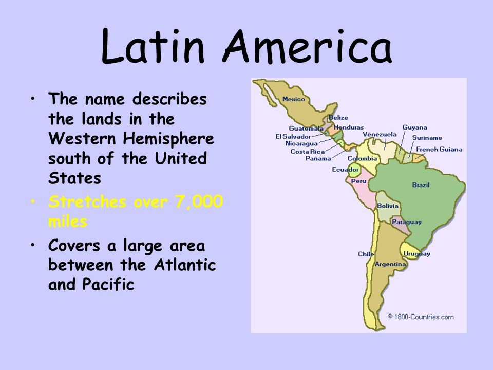 a geography of america land