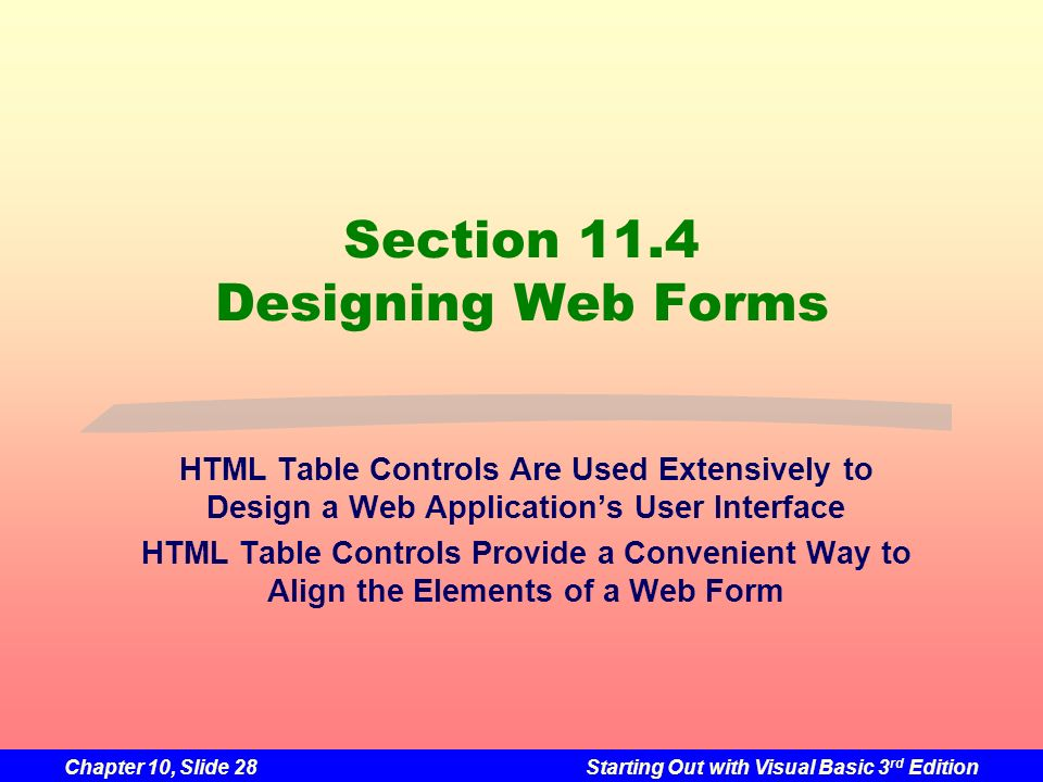 Section 11.4 Designing Web Forms