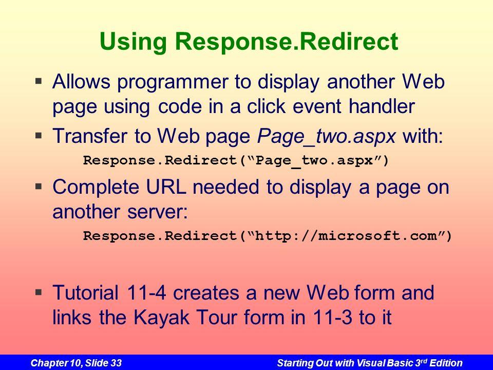 Using Response.Redirect