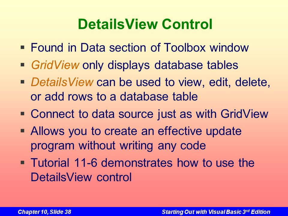 DetailsView Control Found in Data section of Toolbox window