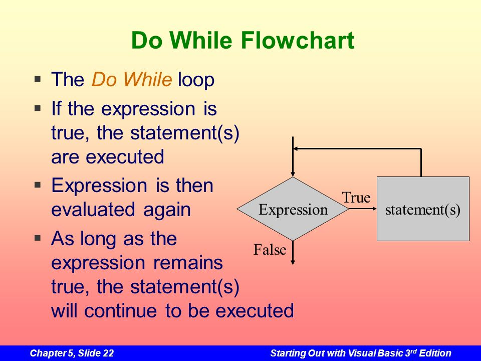Do While Flowchart The Do While loop