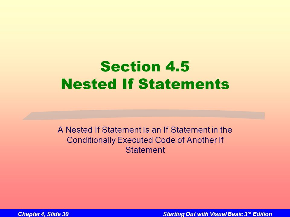 Section 4.5 Nested If Statements