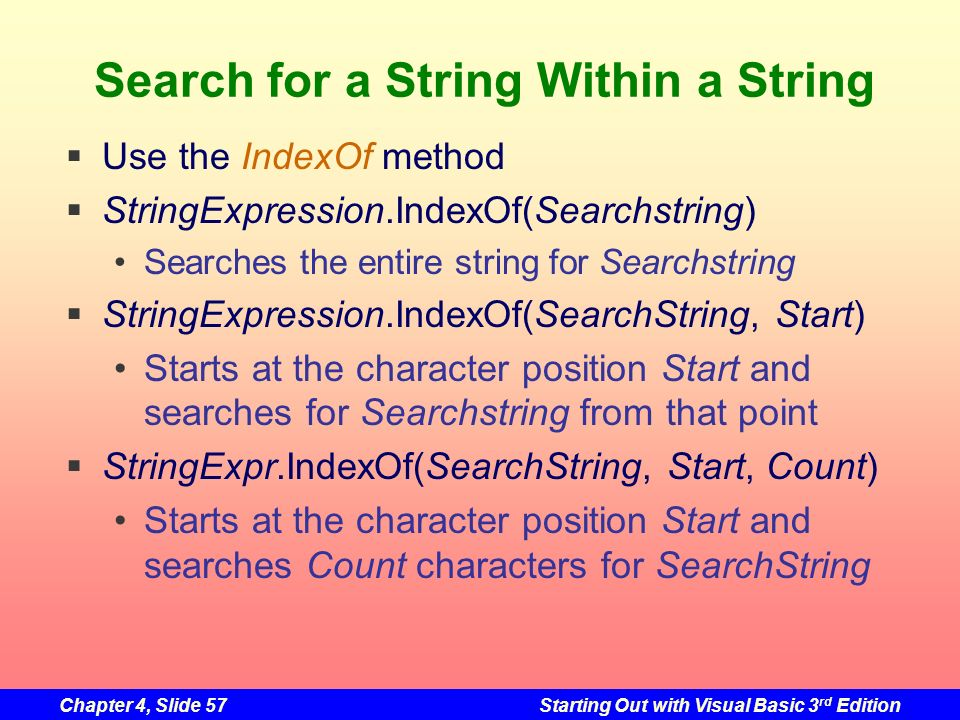 Search for a String Within a String