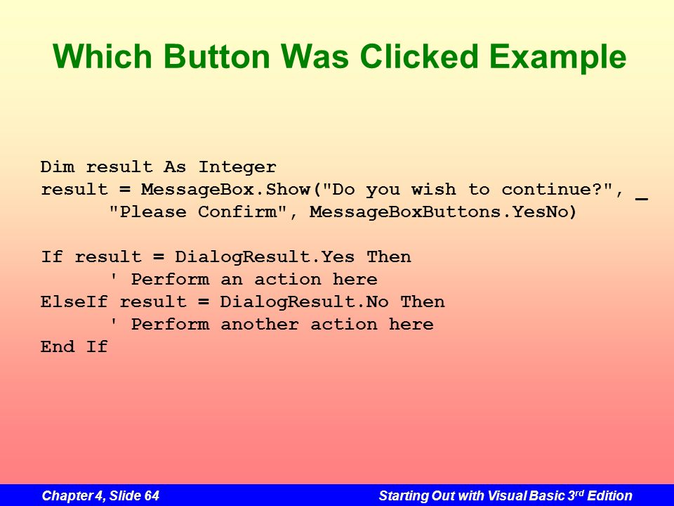 Which Button Was Clicked Example