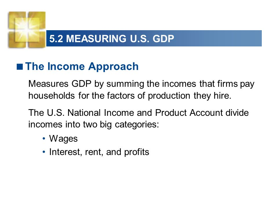 The Income Approach 5.2 MEASURING U.S. GDP