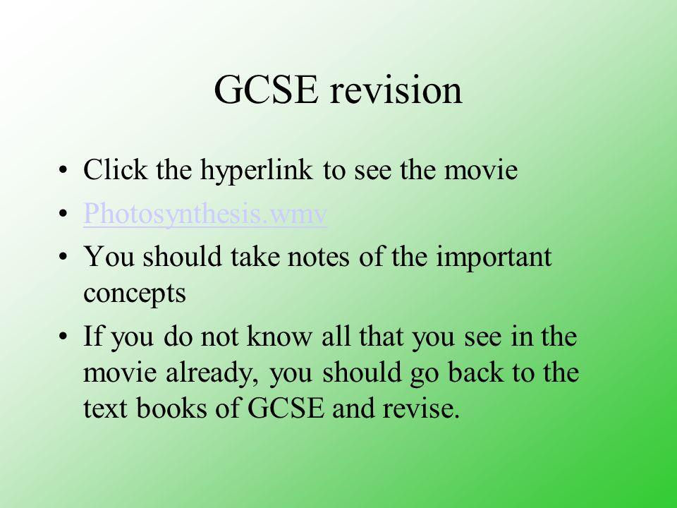 gcse photosynthesis