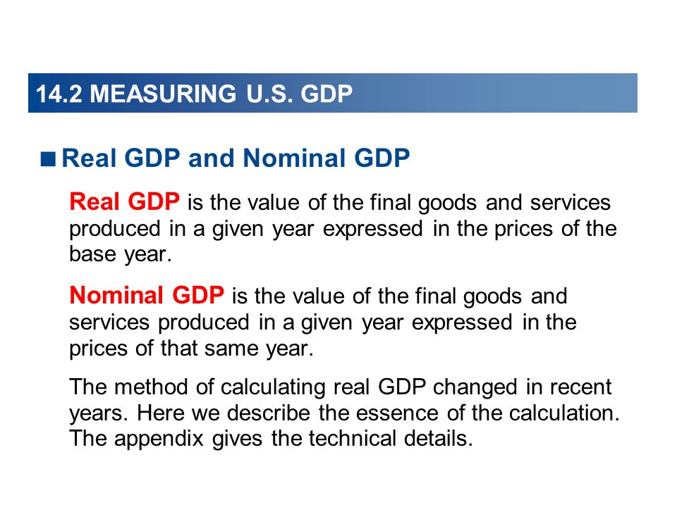Real GDP and Nominal GDP