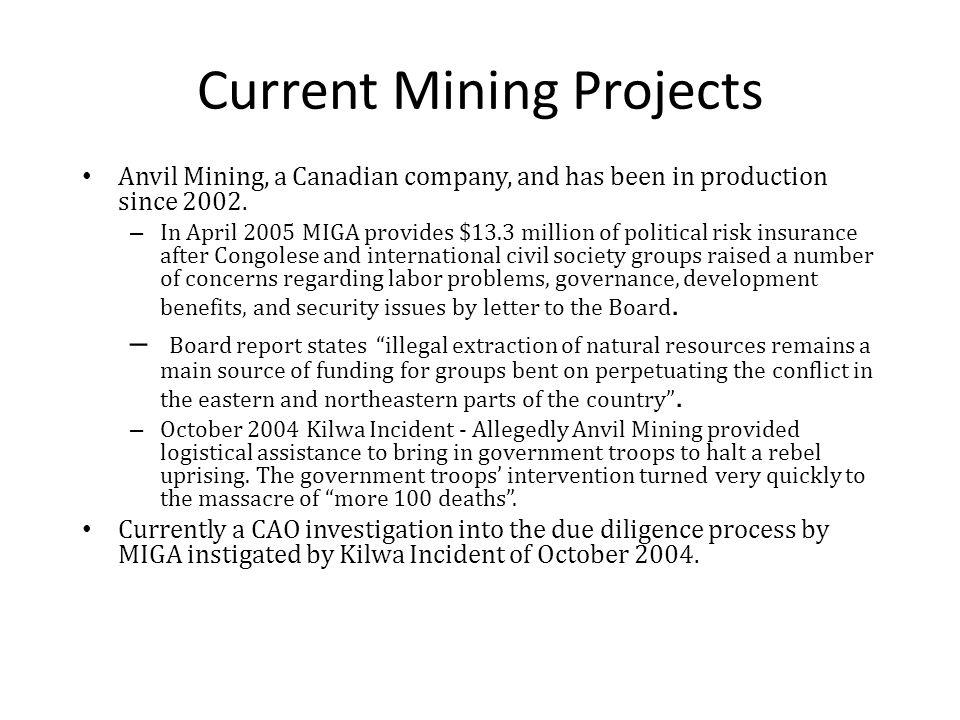 Anvil mining kilwa location