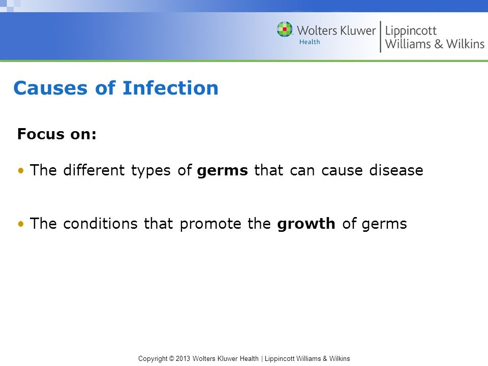 Causes of Infection Focus on: