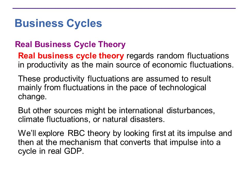 Business Cycles Real Business Cycle Theory