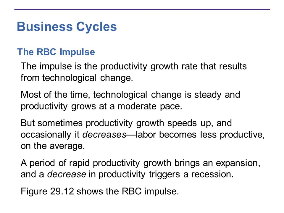 Business Cycles The RBC Impulse