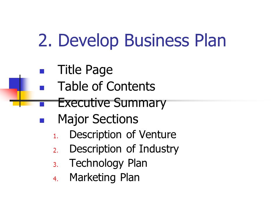 5 Major Sections Of A Business Plan
