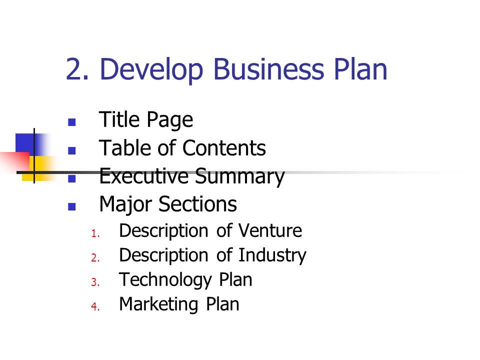 Writing A Business Development Plan