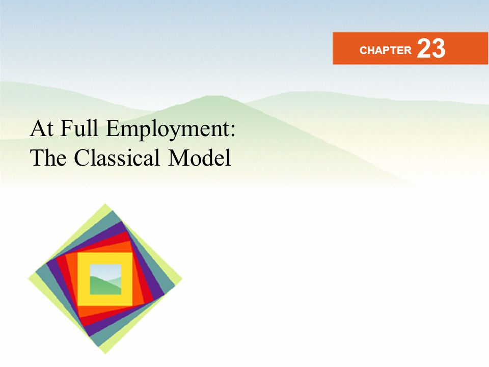 23 CHAPTER At Full Employment: The Classical Model