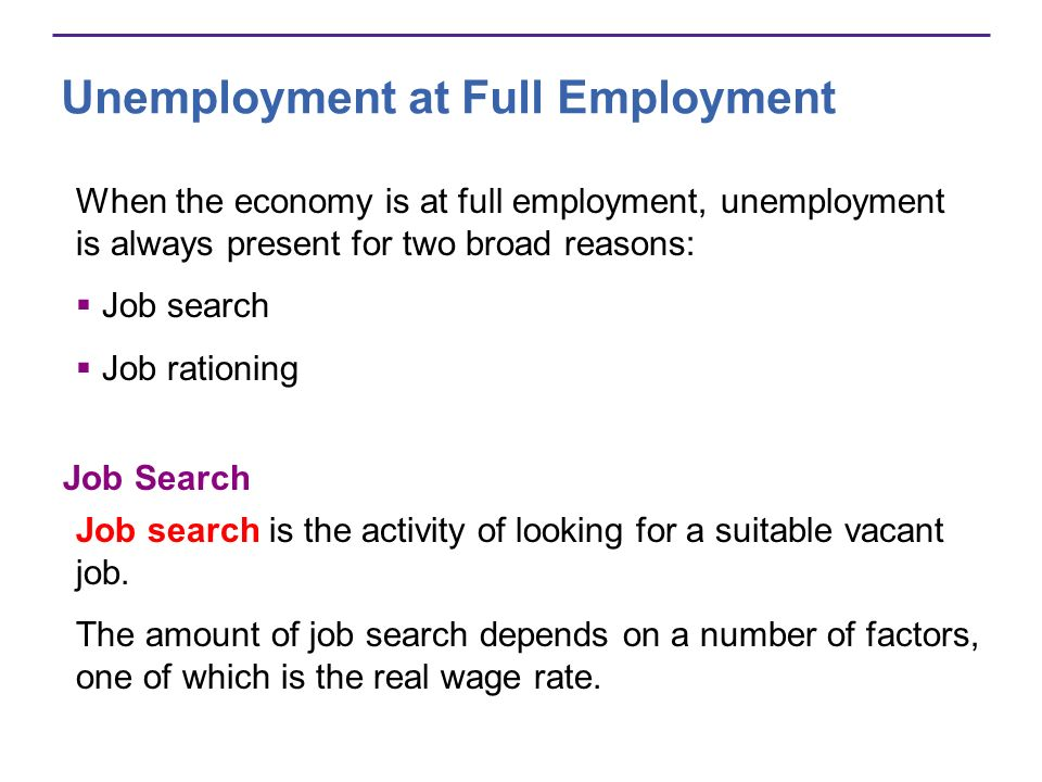 Unemployment at Full Employment