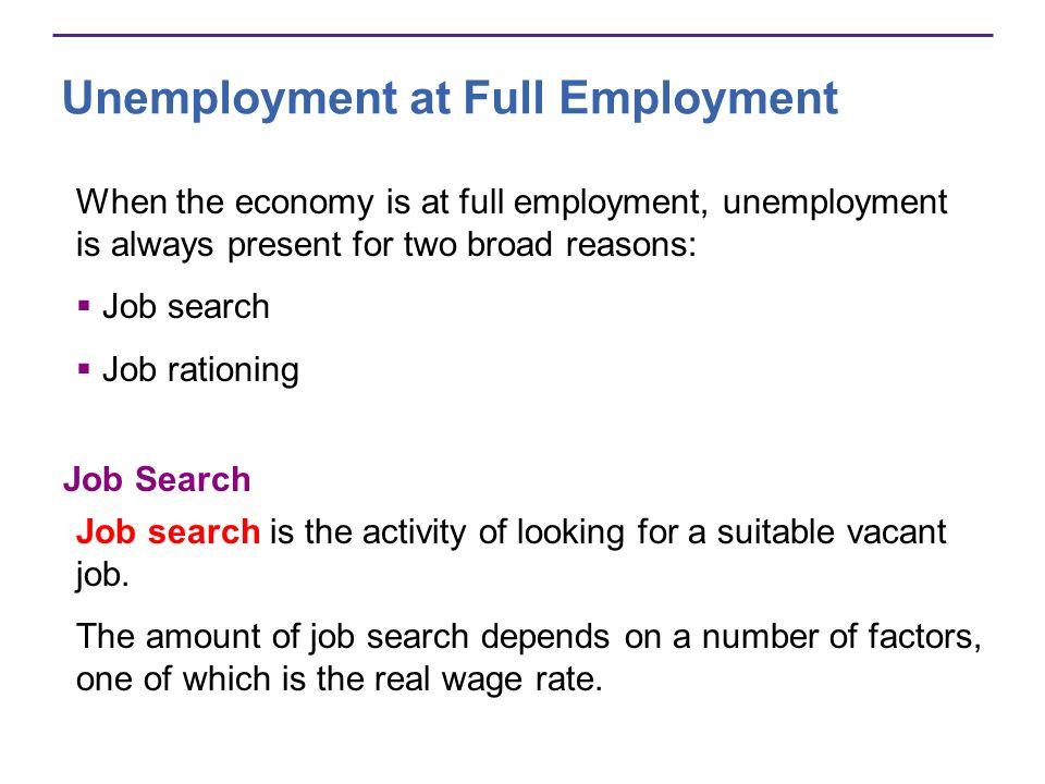 Unemployment at Full Employment