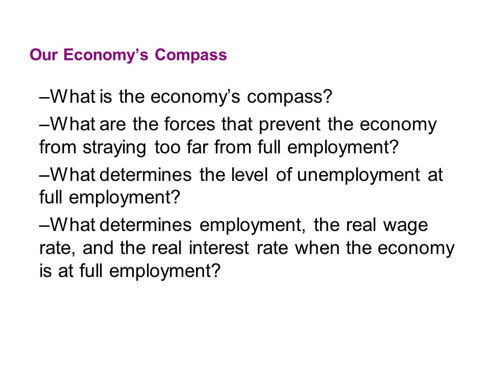 What is the economy's compass