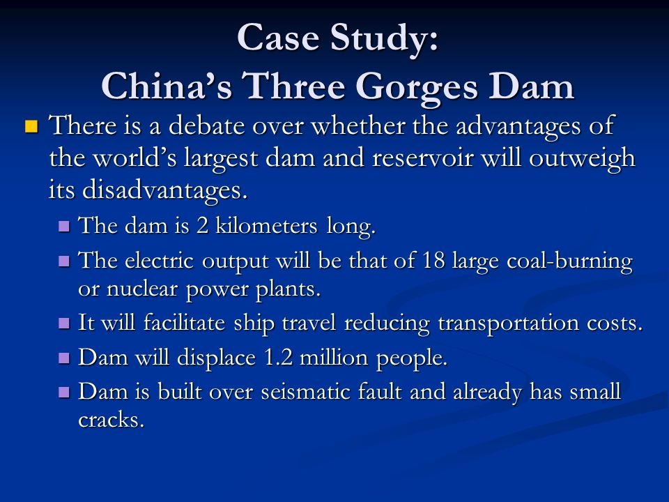 an analysis of the benefits of the three gorges dam project in china Arguments for and the benefits of construct-  such is the case of china's  yangtze three gorges  artists rendering of the yangtze three gorges dam  project.