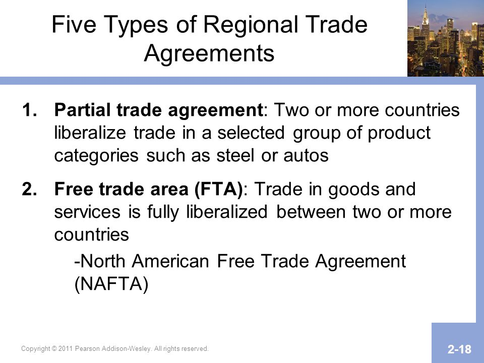 Five Types of Regional Trade Agreements