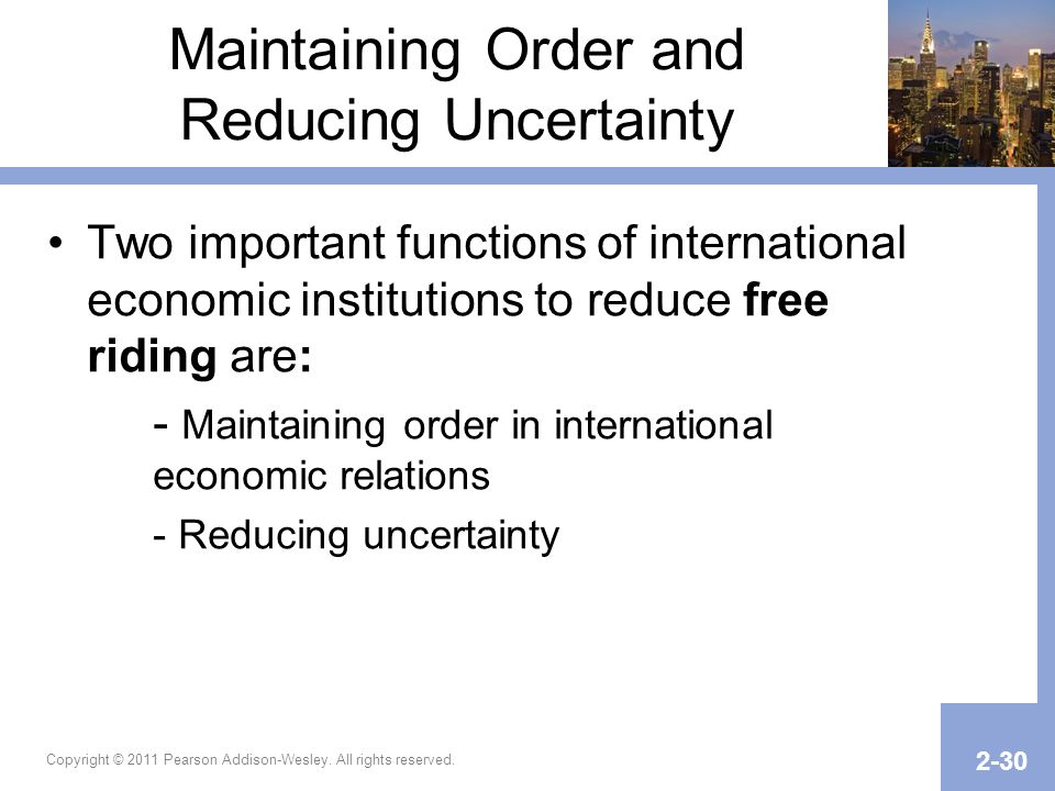 Maintaining Order and Reducing Uncertainty