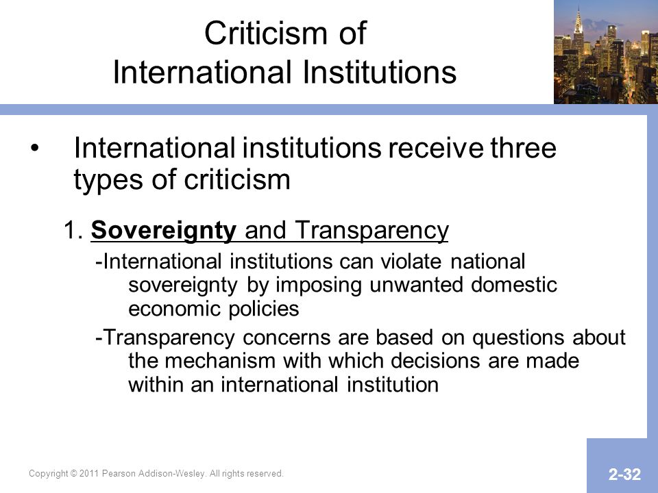 Criticism of International Institutions