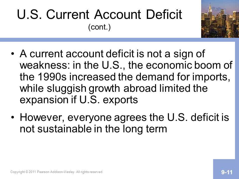 U.S. Current Account Deficit (cont.)