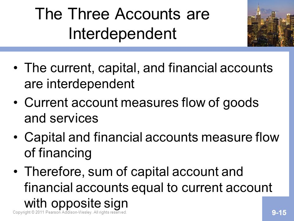 The Three Accounts are Interdependent