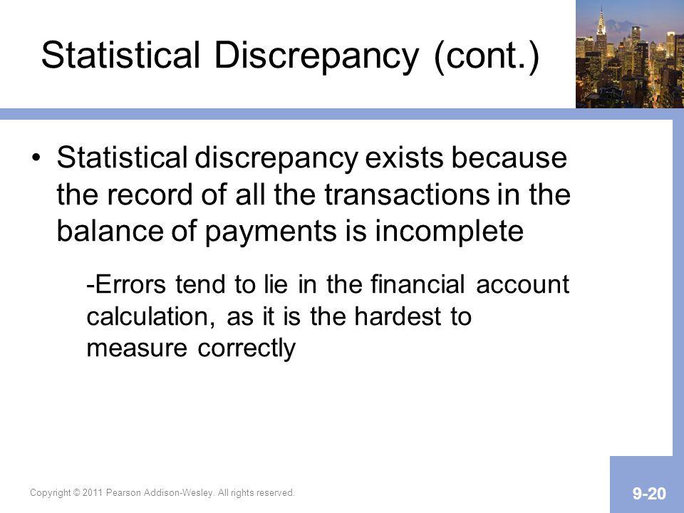 Statistical Discrepancy (cont.)